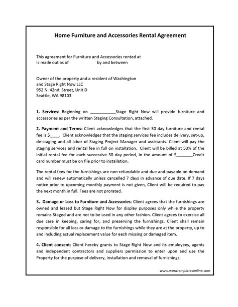 renting contract template agreement archives page 3 of 5 freewordtemplates net