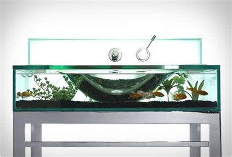Aquarium Bathroom by Aquarium Sink