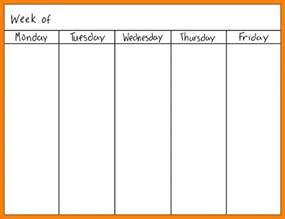 calendar template monday through friday 7 monday through friday calendar daily log sheet