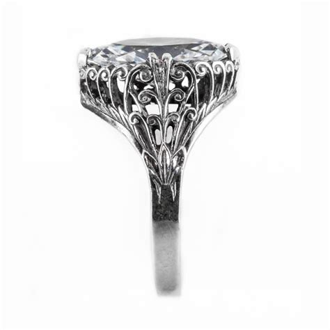 m006bbr antique filigree ring for a 2 95ct to 3 05ct