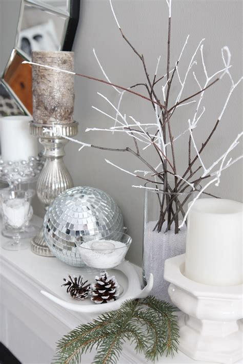 winter decorating ideas winter mantel decorating ideas setting for four