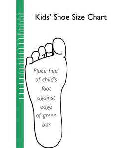 Shoe Size Template Printable Uk by Printable Shoe Size Chart Scope Of Work Template