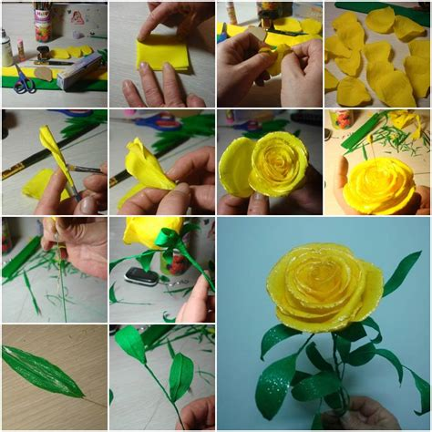 How To Make Handcrafted Flowers - diy paper flower tutorial step by step