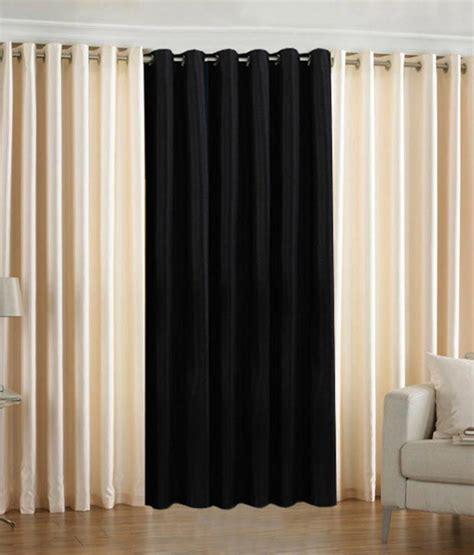 cream and black eyelet curtains pindia set of 3pc plain eyelet window curtains cream