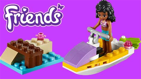 water scooter fun lego friends water scooter fun toy unboxing youtube