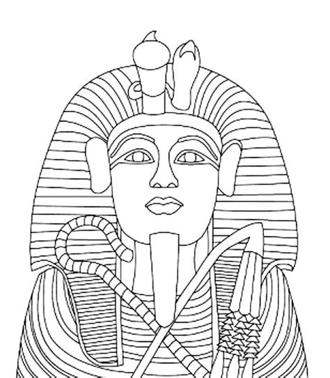 king tut coloring page coloring home