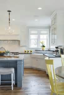 yellow and gray kitchen gray kitchen with yellow chairs cottage kitchen