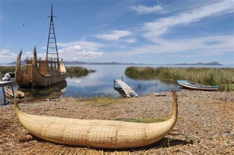 round reed boat reed boat at titicaca lake lifestyle news sina english