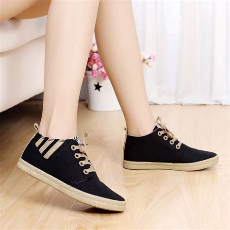 fashion sneakers new canvas flat shoes fashion low help