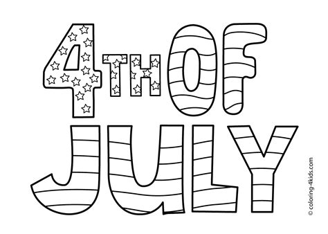 Coloring Page 4th Of July by Happy July 4 Coloring Pages Happy Independence Day