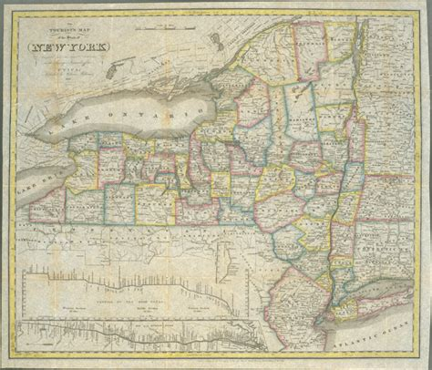 antique state maps 1831 antique new york state map new york usa mappery