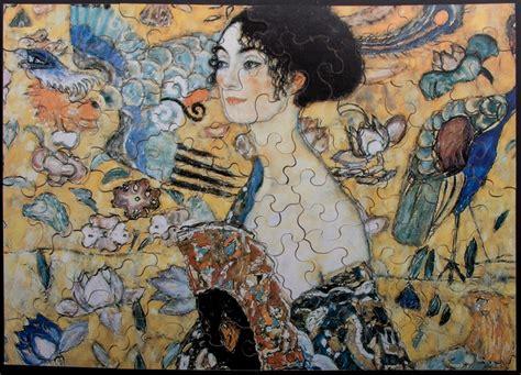 gustav klimt lady with fan gustav klimt lady with fan art wooden puzzle 100 pieces