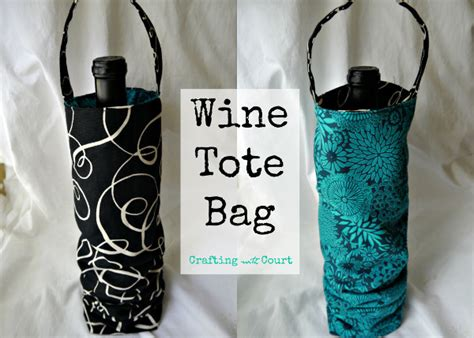 wine bag template wine tote bag think crafts by createforless