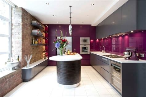 learn kitchen design cuisine couleur aubergine inspirations violettes en 71 id 233 es