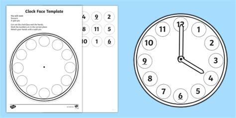 sen printable clocks make a clock face activity measurement measure measuring