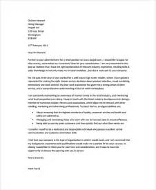 Management Cover Letter by Sle Retail Management Cover Letter 6 Free Documents