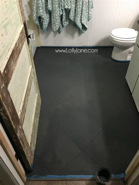 how to paint a tile floor bathroom hate your tile floors paint them lolly jane