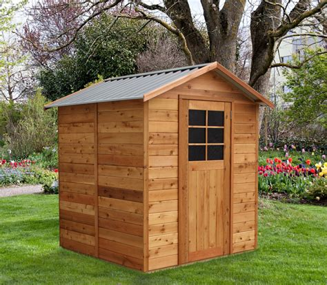 Timber Garden Shed by Cedar Shed Palmwood 6x6ft 1 9mx1 8m 1 395 00
