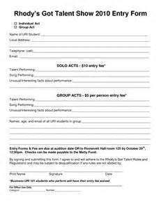 talent show registration form template best photos of car show categories sheet car show awards