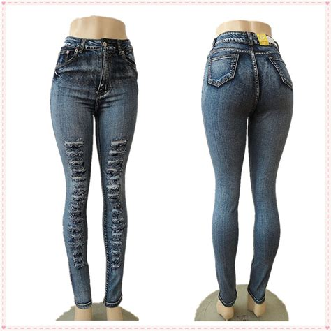 womens jeans styles 2015 sexy blue skinny high waist 2015 fashion style casual