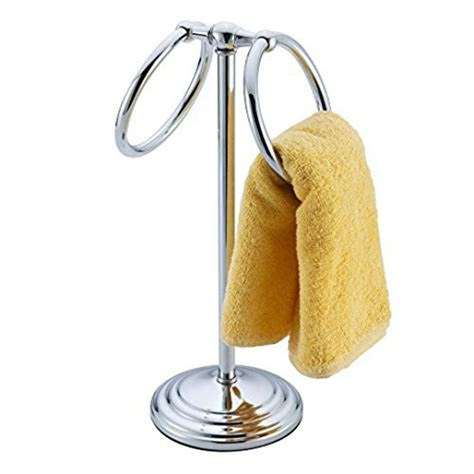 Ring Stand New Crom deluxe chrome plated steel towel holder stand new ebay