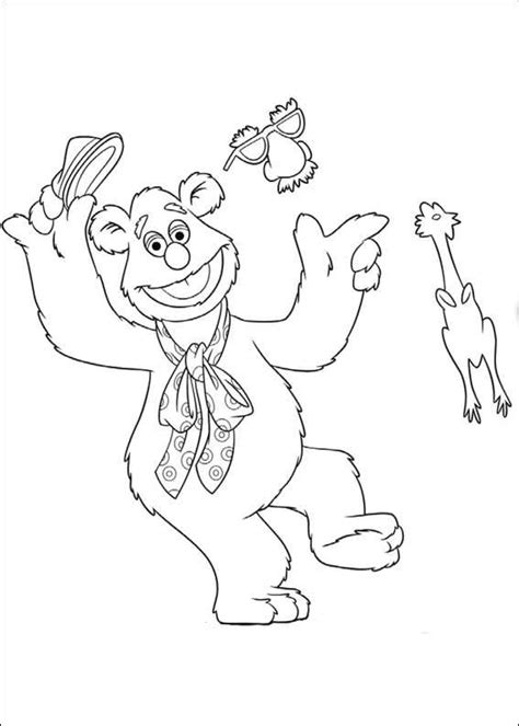 Kids N Fun Com 25 Coloring Pages Of Muppets Fozzie Coloring Pages