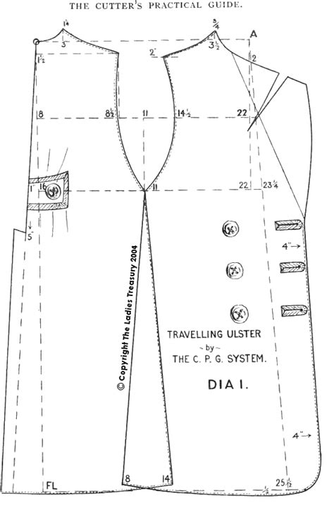 pattern drafting in clothing free period clothing patterns and cutting diagrams you
