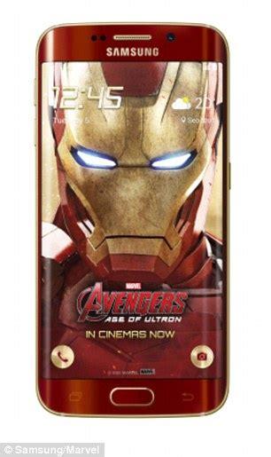 wallpaper hd iron man s6 edge samsung unveil iron man galaxy s6 edge smartphone daily