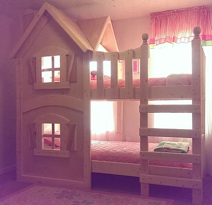 doll house loft bunk bed the dollhouse bunkbed by imagine that playhouses more