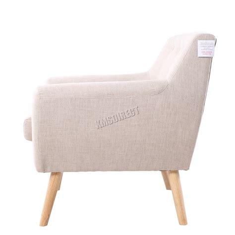 Single Dining Room Chairs Foxhunter Linen Fabric 1 Single Seat Sofa Tub Arm Chair