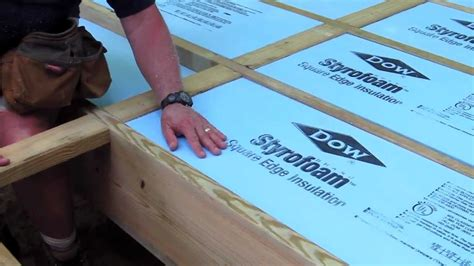 Pier Foundation House Plans by How To Foam Insulation Board Youtube