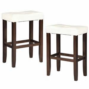 2pc saddle 24 quot h counter height stool espresso wood