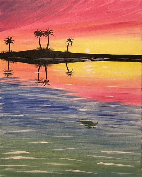 paint nite bay paint nite sunset at turtle bay