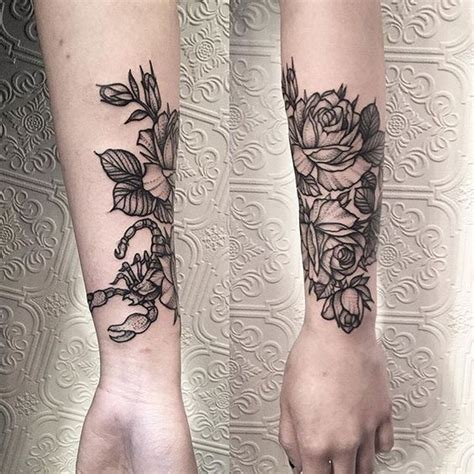 scorpion and rose tattoos scorpion tattoos top 150 ranked for every taste and