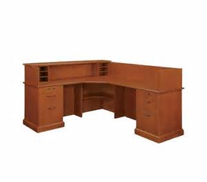 L Shaped Receptionist Desk by New Belmont L Shaped Pedestal Reception Desks