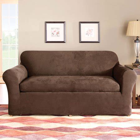 Sure Fit Stretch Sofa Slipcovers by Sure Fit Stretch Suede 3 Sofa Slipcover Walmart