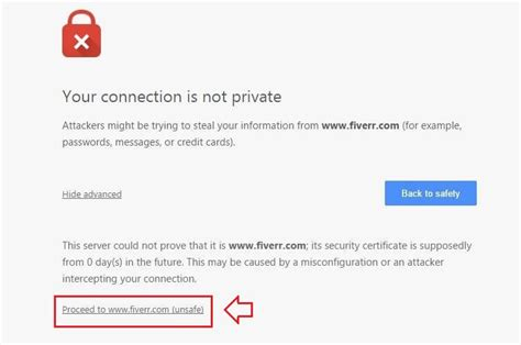 chrome your connection was interrupted how to fix quot your connection is not private quot chrome error