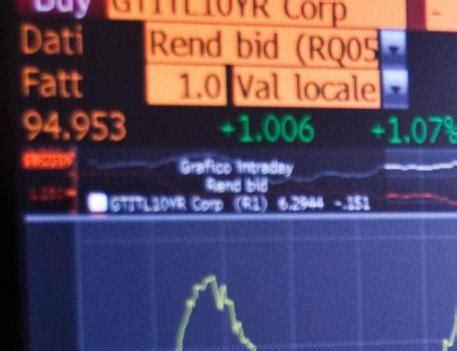 andamento spread banche spread btp bund sfonda soglia dei 190 economia ansa it