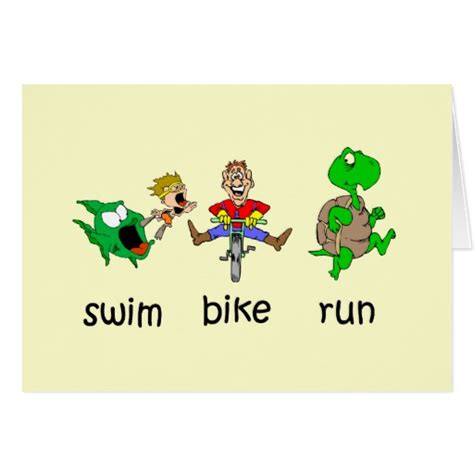 swim bike run card zazzle