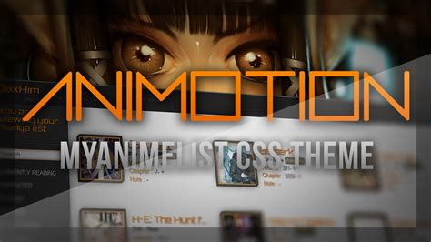 theme anime list animotion myanimelist css theme youtube