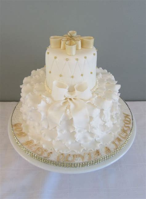 christening cakes on pinterest baptism cakes first white and gold baptism cake first communion cakes