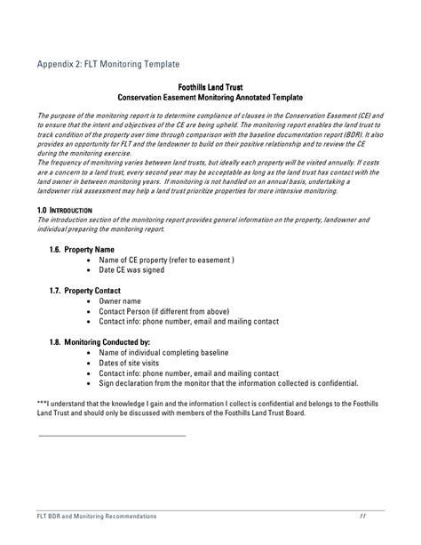 baseline report template baseline documentation foothills land trust 5 of 5