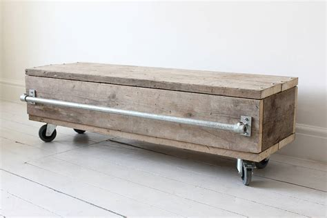 violet reclaimed wood coffee table drawer unit by
