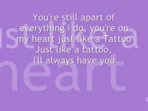 just like a tattoo sparks lyrics