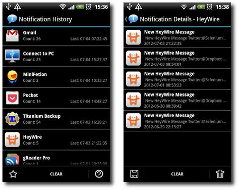 Android Notification History by Notification History Record Keeper Of Notification Alerts