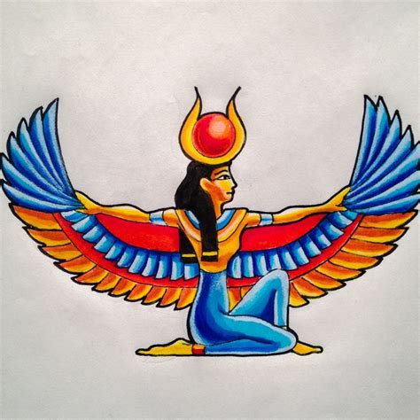 goddess isis tattoo designs design for a current client flash