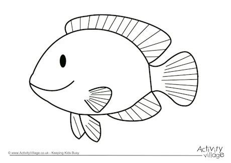Water Doodle Shape Color Number fish colouring page 2