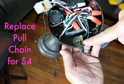 ceiling fan pull chain repair 4 wire pull chain switch wiring diagram get free image