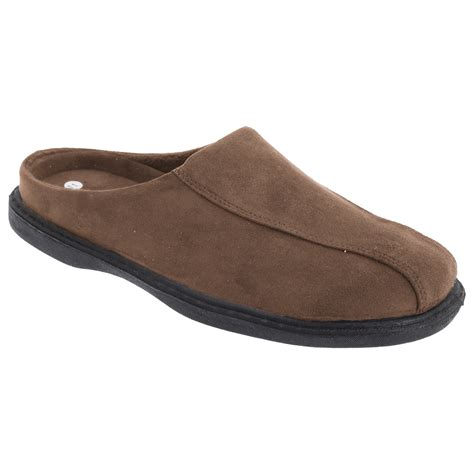 indoor slippers for zedzzz mens jarrow synthetic suede mule slip on slippers