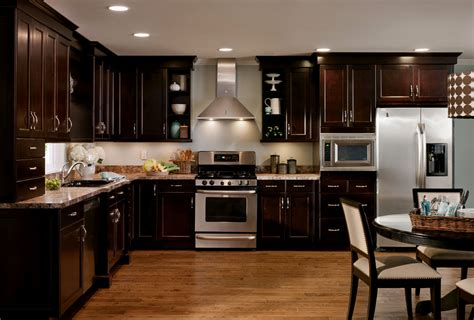 dark kitchen cabinets with light floors kitchens with dark cabinets and light wood floors